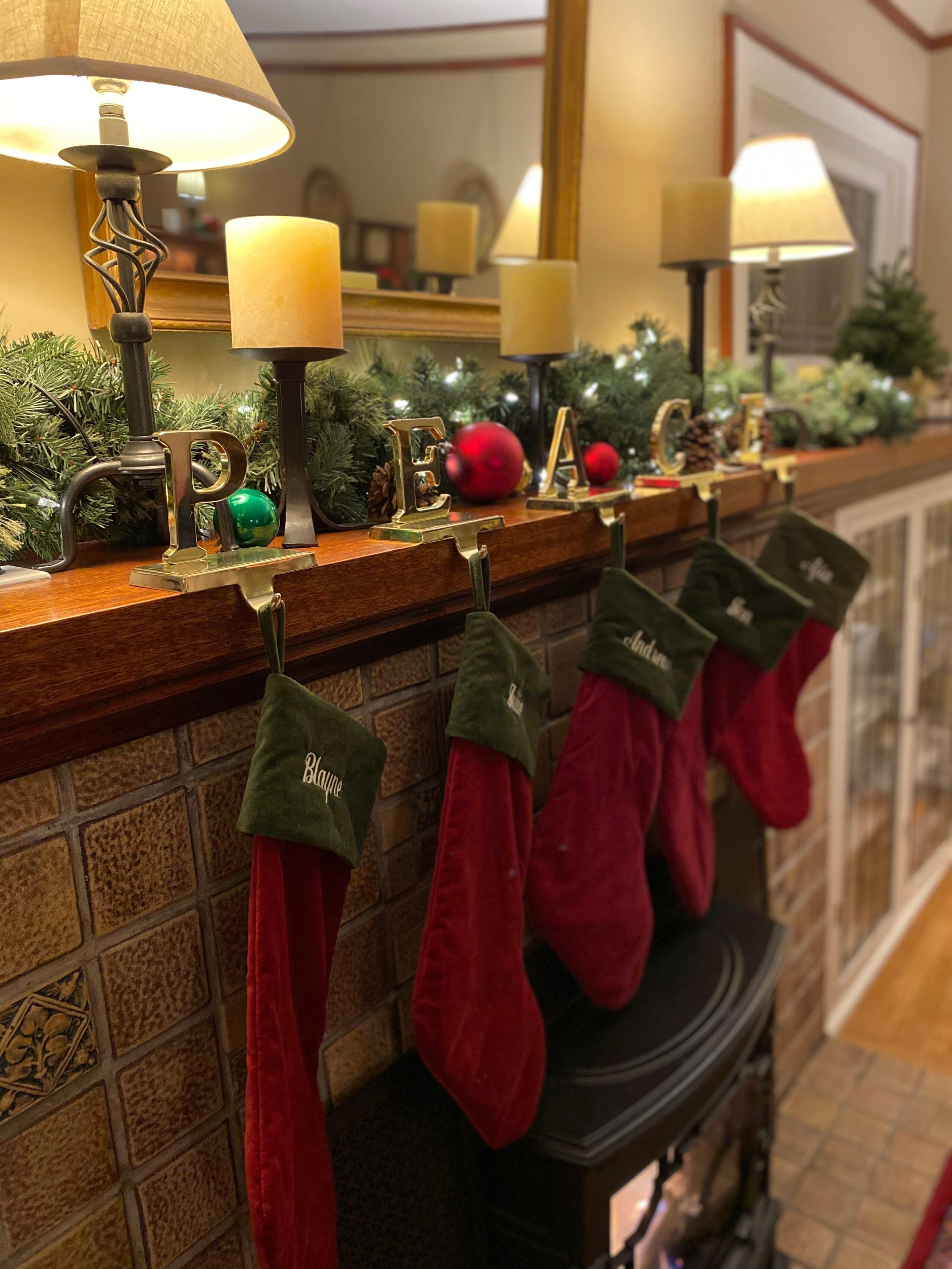 stockings by the fire at Greenlake Guest House