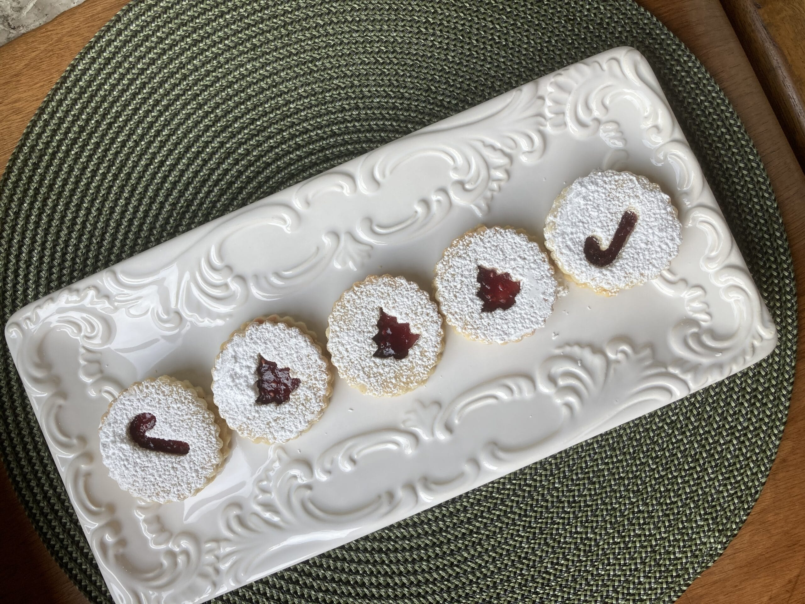 round cookies on a tray