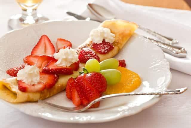 Swedich Pancakes on a breakfast plate