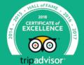 Trip Advisor Hall of Fame logo for 2018