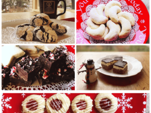 a collage of delicious christmas cookies